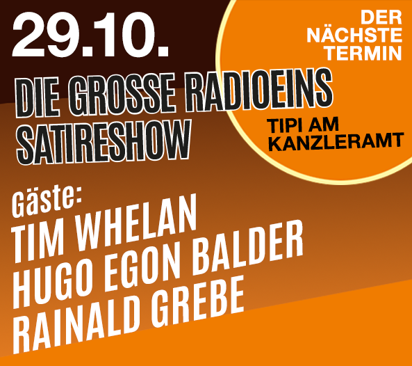 Teaserbox Die grosse radioeins Satireshow 10.29.