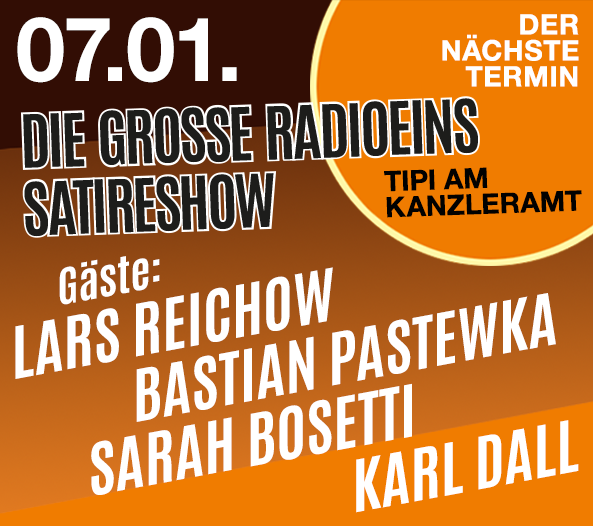 Teaserbox Die grosse radioeins Satireshow 07.01.2019